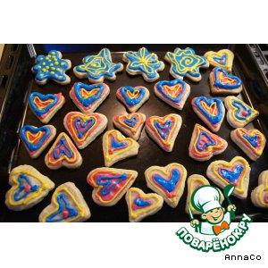 Рецепт Песочное печенье с королевской глазурью / Shortbread Cookies with  Royal Icing