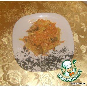 Рецепт Салат из спаржи и грибов