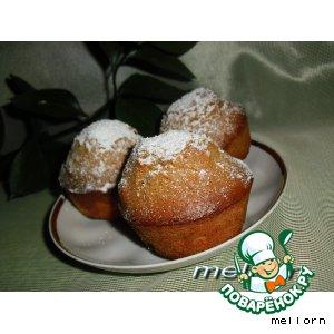 Рецепт Кексы из ирисок с орехами