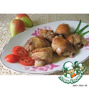 Рецепт Куриные ножки, фаршированные грушей