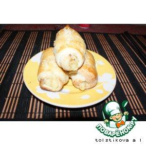 Рецепт Слоеные пирожки с картошкой и жареным луком