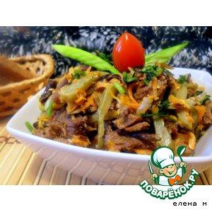 Рецепт Горячий охотничий салат