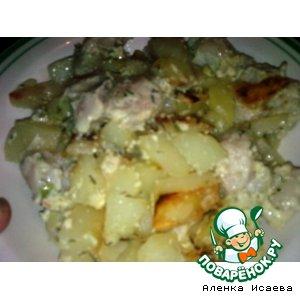 Рецепт Рыба, запеченая в собственном соку, с картофелем