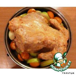 Рецепт Курица, фаршированная  по-еврейски
