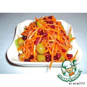 Рецепт Морковь, маринованная с оливками и брусникой