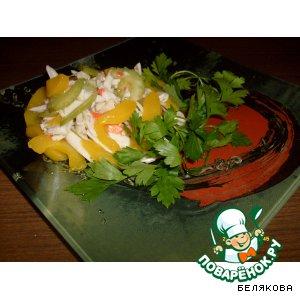 Салат из сельдерея с персиками простой рецепт приготовления с фото пошагово как готовить