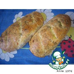 Рецепт Луковый хлеб с сыром и прованскими травами