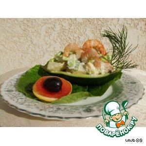 Салат из креветок и курицы рецепты 3