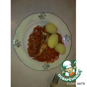 Рецепт Мойва с луком и томатной пастой