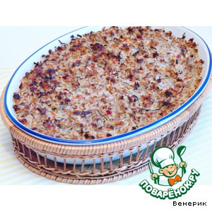 Рецепт Запеканка из мясного фарша и квашеной капусты