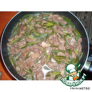 Рецепт Стрелки чеснока со свининой