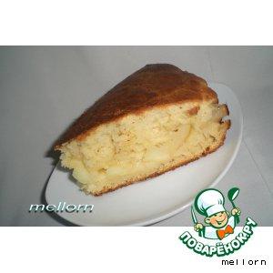 Рецепт Сочный яблочный пирог на манной каше