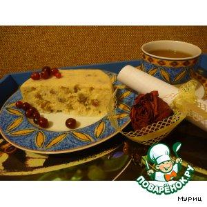 Рецепт Пудинг творожный с орехами, приготовленный на пару