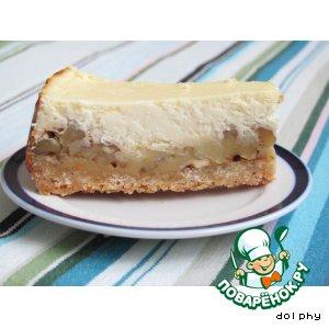 Рецепт Творожный торт с карамелью и орехами