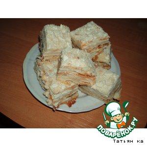 """Рецепт Торт лимонно-ореховый """"Наполеон"""""""