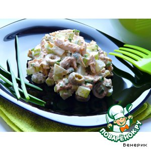 Рецепт Салат с запеченным куриным филе и сельдереем