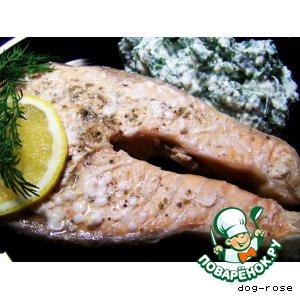 Рыба дори, запеченная с овощами, рецепт с фото.