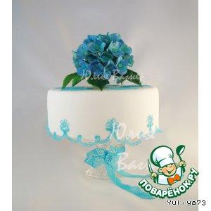 Рецепт Простые цветочки из сахарной мастики для украшения тортов