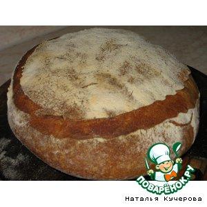 Белый хлеб на натуральной закваске