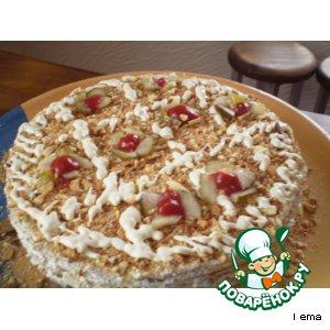 Рецепт Торт закусочный грибной