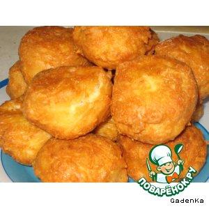 Рецепт Сырные пончики с крабовыми палочками