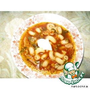 Рецепт Суп томатный с макаронами