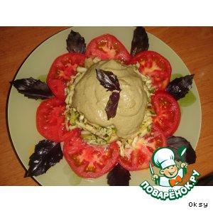 Как готовить Салат из помидоров с сулугуни рецепт приготовления с фотографиями пошагово