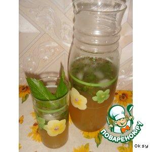 Рецепт Холодный зеленый чай с мятой
