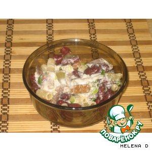 Рецепт Тeплый салат с куриными сердечками