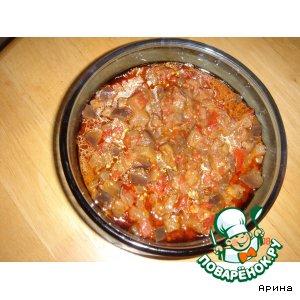 Рецепт Тушеные баклажаны