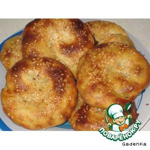 Рецепт Лепешки с сырной начинкой