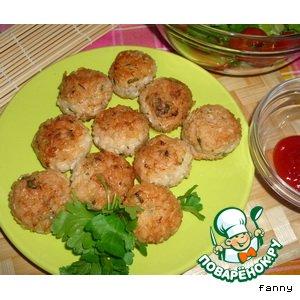 Рецепт Куриные шарики с рисом