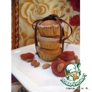 Рецепт Кексы с курагой и белым шоколадом