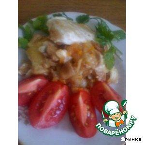 Рецепт Рыба, тушенная с грибами