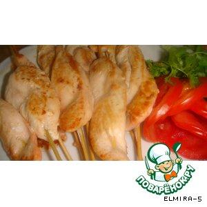 Рецепт Куриная грудка на шпажках