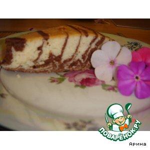 Рецепт Бисквитная лимонно-шоколадная  фантазия