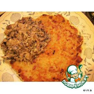 Рецепт Картофельные лепешки с грибным соусом