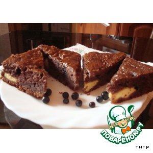 Рецепт Пирог на кефире, с черникой и творогом