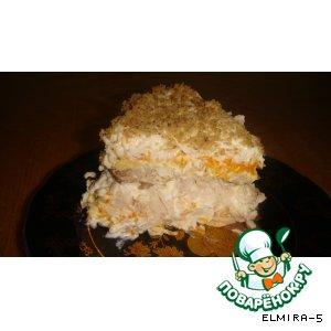 Рецепт Куриный слоеный салат