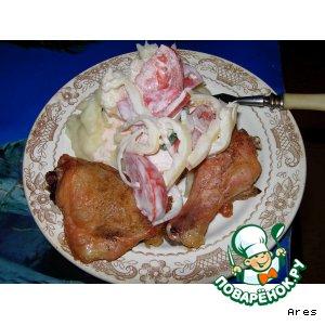 Рецепт Картофельное пюре с печеной курицей