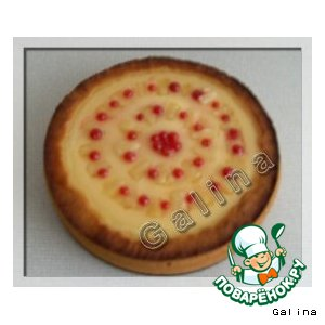 Рецепт Творожный пирог  с ананасом и красной смородиной
