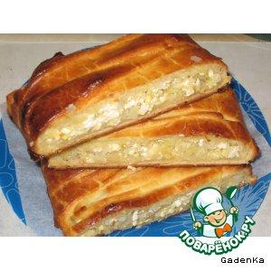 Рецепт Пирог с капустно-сырной начинкой