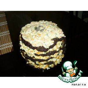 Как готовить Тортик « Ай да печенка» пошаговый рецепт с фото