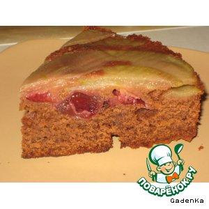 Рецепт Шоколадно-фруктовый пирог с ароматом кофе