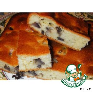 Рецепт Вкусный грибной пирог