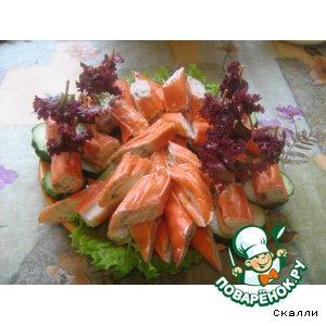 Рецепт Крабовые палочки с муссом из красной рыбы