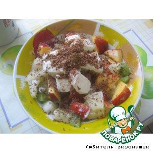 Фруктовый салат домашний пошаговый рецепт с фото как приготовить