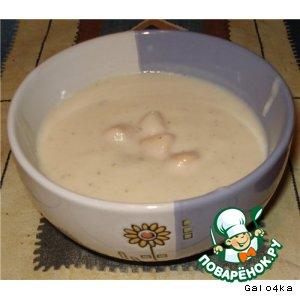 Рецепт Суп-пюре из цветной капусты с морскими гребешками