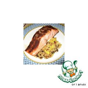 Рецепт Пряный жареный лосось