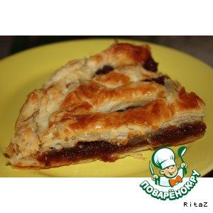 Готовим Слоеный пирог с горной курагой домашний рецепт приготовления с фото пошагово